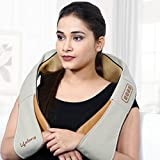 Lifelong LLM063 Electric Neck, Shoulder and Back Massager with heat kneading nodes
