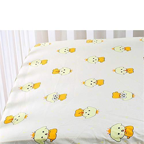 YFYJ 100% Baumwolle Kinderbett Spannbettlaken Weiche, Hautfreundliche Tagesdecke Babybett Matratzenbezug Protector Gesundes Bettlaken Cartoon Neugeborene Bettwäsche Cartoon Hund 130 * 70 * 5cm