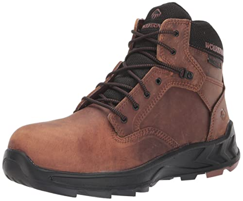 Wolverine Men's ShiftPlus Work LX 6 Inch Alloy Toe Construction Boot, Peanut, 7.5 X-Wide