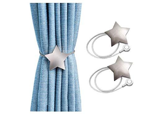 CCHKFEI Vorhang-Raffhalter, magnetisch, Sterne, Vorhang-Raffhalter, Vorhang-Clips, Vorhanghalter, Schnallen, modische Schnalle, ohne Bohren für Zuhause und Büro, Fensterdekoration