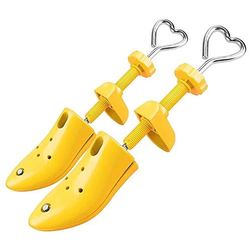 CHLDDHC Expansor de Zapatos-Zapatos Camilla de árboles Zapatos Camilla Zapatos Mujeres Hombres Camilla | Material de aleación | La Altura y la Longitud se Pueden Ajustar, amarillo-29-35EU