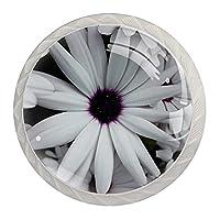 引き出しハンドルは装飾的なキャビネットのノブを引っ張る ドレッサー引き出しハンドル4個,ホワイトデイジーjpg