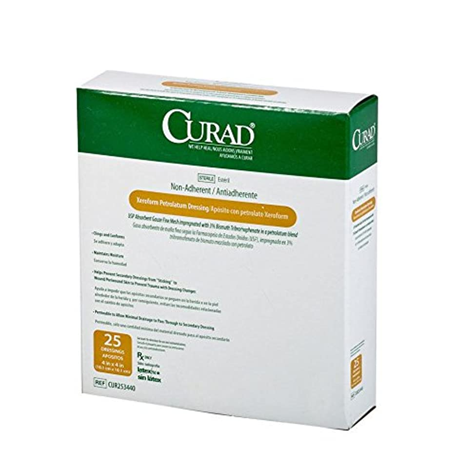 Medline CUR253440Z Curad Sterile Xeroform Gauze (Box of 25)