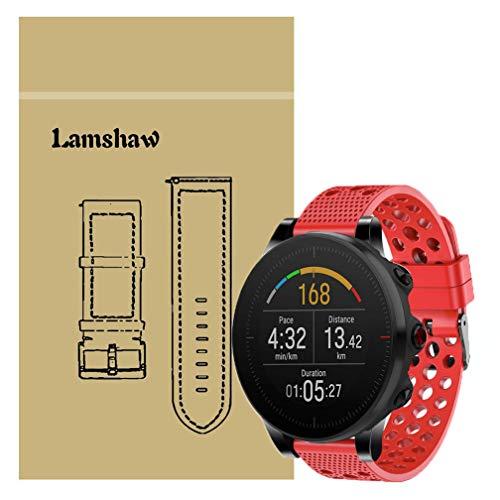LvBu Armband Kompatibel Für Polar Vantage M, Sport Silikon Classic Ersatz Uhrenarmband Für Polar Vantage M Smartwatch (Rot)