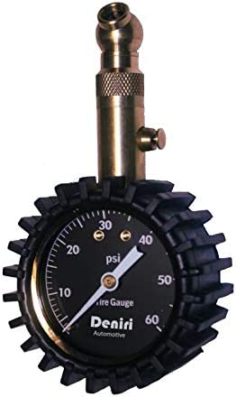 Deniri Heavy Duty Tire Pressure Gauge 0 60 PSI Cars Trucks Motorcycles RV s ATV s Lawn Tractors product image