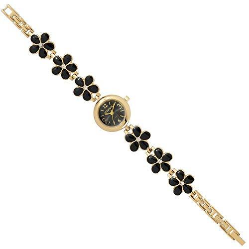 Orologio donna quarzo solo tempo cassa metallo dorato nero Ottaviani 15365BL
