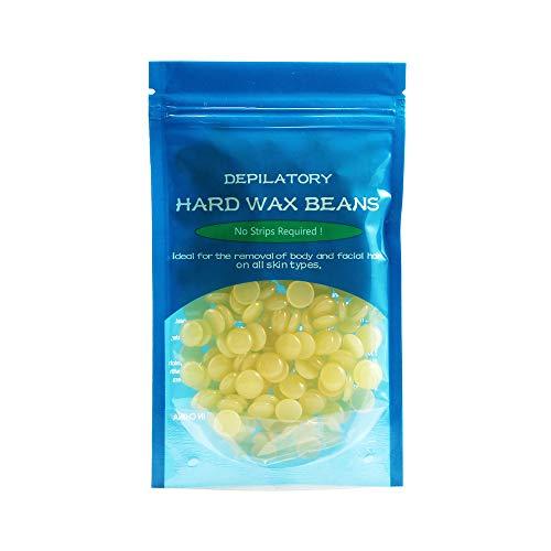 oobest Depilatory Hot Film Hard Wax Bean for Waxing No Strip Needed for Body Bikini Face Hair Removal 50g Hair Wax Bean (Honey)