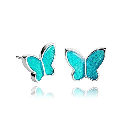 Schön Klein Türkis Ohr stecker Geschenkbox für Damen; Mode Azurblau Jahrestag Schmuck Ohrringe Dragon Porter; Durchmesser 1.2cm