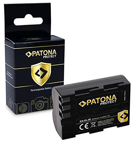 PATONA PROTECT Batteria EN-EL3E, custodia V1 compatibile con Nikon D700 D300 D200 D100 D80 D70 D50