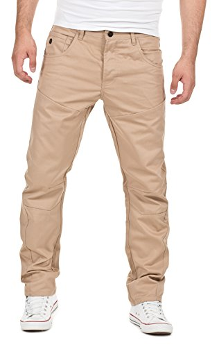 !Solid Herren Anti-FIT Chino Hose by Jeans, 4073 Sand, W28/L34, 4073 Sand, W28/L34