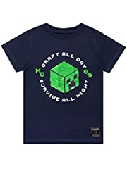 Minecraft Camiseta de Manga Corta Creeper para Niños