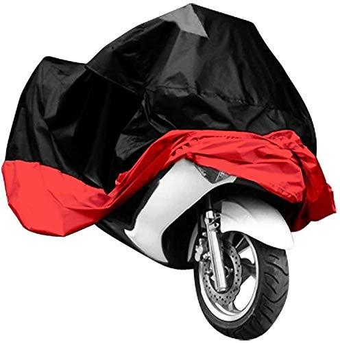 Aeromdale Funda Moto MTB Fundas Tamaño Grande XXXL Rojo Negro Modelo de...
