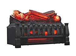 Duraflame Electric DFI030ARU Infrared Quartz Set Heater with Realistic Ember Bed and Logs, Black