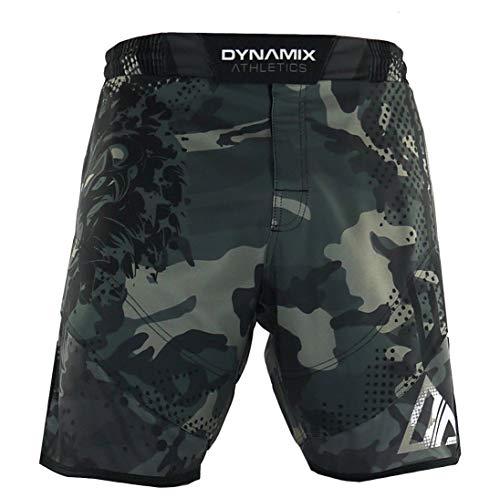 Dynamix Athletics - Pantaloncini da allenamento ibridi Predator Green Camo – ideali per MMA Fitness Jiu Jitsu Crossfit – Pantaloni da uomo (L)