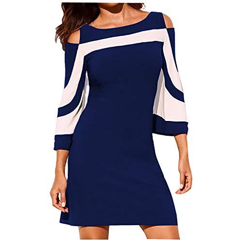 Damen Kleid Abendkleid Schulterfreies Cocktailkleid, LeeMon Schulterfreies Kleid als Abendkleid Partykleid Ballkleid Maxikleid elegant glänzend und hoch geschnitten