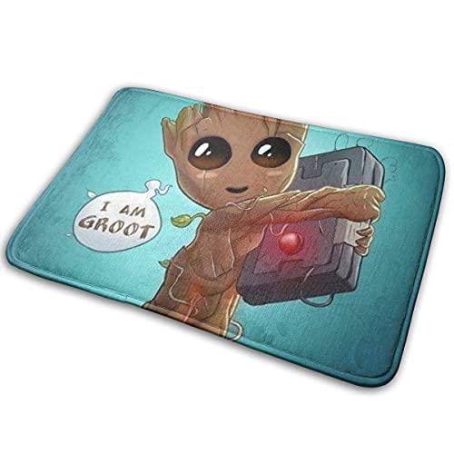 I Am Groot - Felpudo antideslizante (15,8 x 23,6 cm)