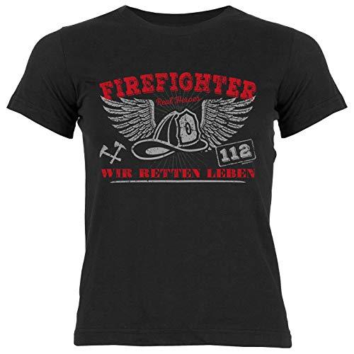 Feuerwehr-Shirt/Mädchen-Kinder Freizeit Bekleidung : Firefighter Wir retten Leben - Geschenkidee