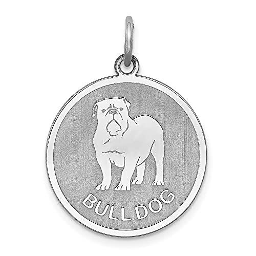 Diamond2Deal - Colgante de plata de ley 925 con forma de disco de perro