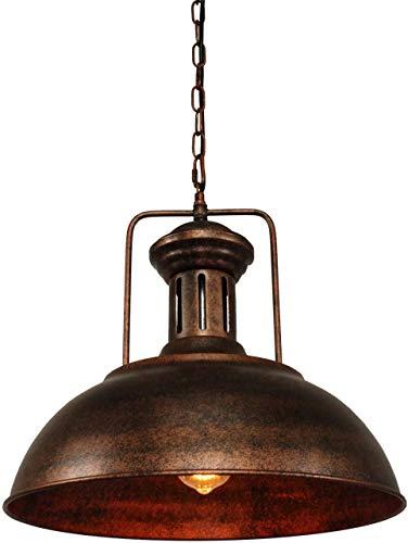 ZPKelin Lámpara de techo colgante industrial náutico con forma de cúpula rústica