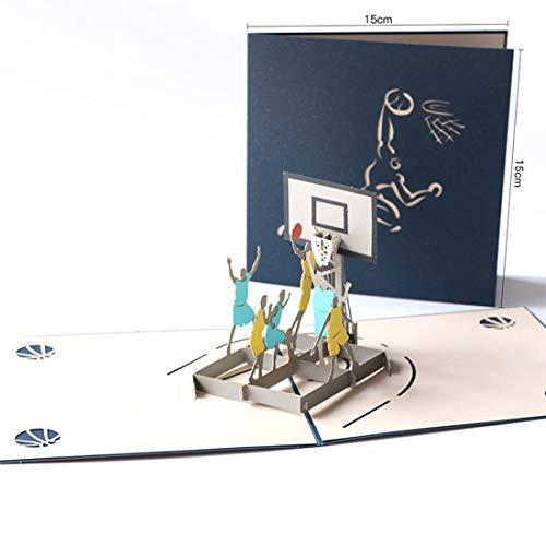 LIBILAA 3D Stereo Basketbal om Boyfriend Boys Dad Creative Verjaardagskaart Tanabata wenskaart te sturen Picture color