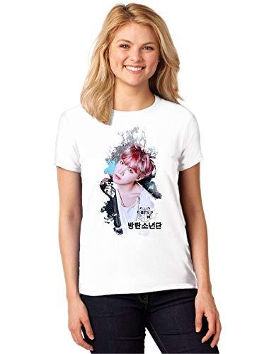 Camiseta Feminina T-Shirt Kpop BTS J-Hope You Never Walk Alone ES_164
