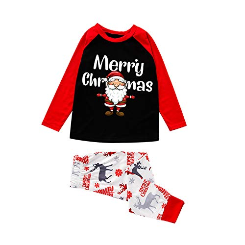 BIBOKAOKE Conjunto de pijama de 2 piezas para familia y padres, ropa de dormir para papá, mamá y mí Xma Padre. XXL