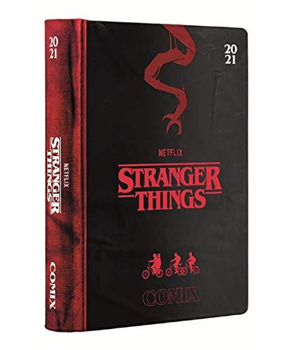 Agenda escolar Stranger Things 2020/2021 con fecha, 16 meses, 16 x 12 cm, incluye bolígrafo de colores