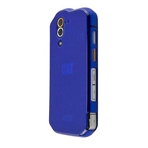 caseroxx TPU-Hülle für Cat S60, Tasche mit & ohne Bildschirmfolie (TPU-Hülle, dunkelblau)