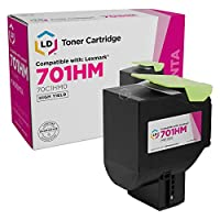 LD Remanufactured Toner Cartridge Replacement for Lexmark 701HM 70C1HM0 High Yield (Magenta)
