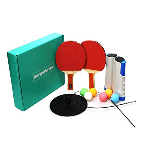 Review LLDWORK Ping Pong Paddle Set 2 in 1 Table Tennis Set Retractable Net Post, Paddles, Balls, Fi...