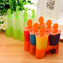 MINGTAI Homemade Manual Ice Cream Mold 4 6 8 Cells Ice Cube Molds Summer Popsicle Kitchen Tools Randomly Color Lolly Mould...