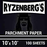 Parchment Paper for Rosin Press / 10'x10' / 100 Sheets/Extra Thick/Double Silicon Sided/Reusable/By...