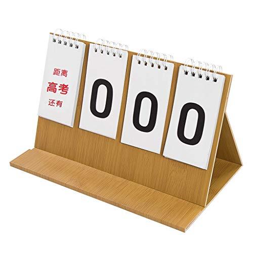 Calendario Calendarios de Escritorio Calendarios d Escritorio de madera Calendario Tarjeta tiempo de cuenta atrás examen inspirada 2020 ingreso a la universidad Examen de cuenta atrás Calendario Plani