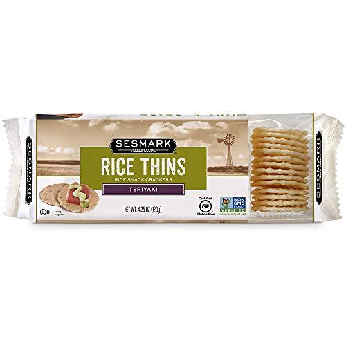 Sesmark Gluten Free Rice Thins, Teriyaki, 4.25 Ounce (Pack of 12)