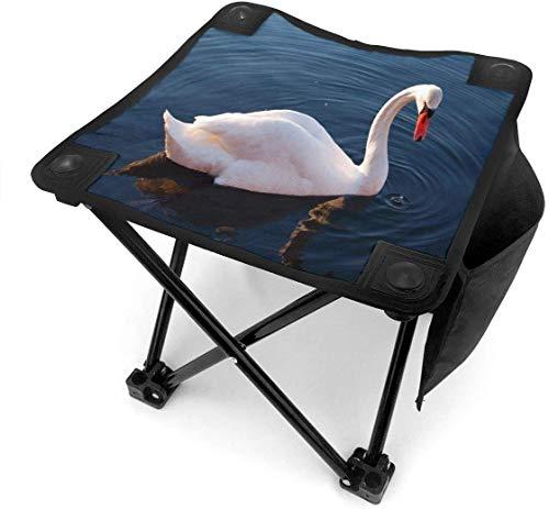 GuyIvan Camping Hocker Falten Schöne White Swan Tragbarer Stuhl Camping Jagd Angeln Reisen Mit Tragetasche
