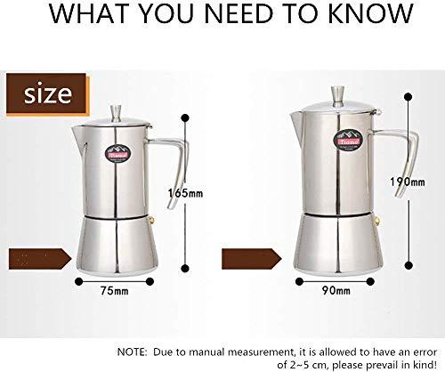 Leuke koffiepot. Coffee Pot RVS Koffiepot 304 Mocha Pot Huishoudelijke Hand Red Pot Filter Cup Coffee Filter instellen Pot 200ml 300ml for koffie en thee drinken Etc (Kleur: Foto kleur, grootte: A)
