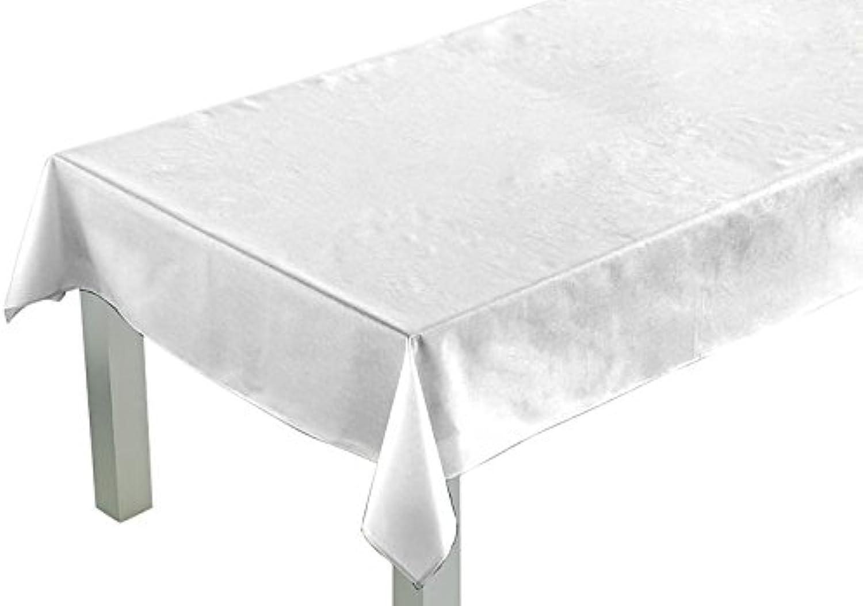 Comptoir du du du Linge csi05005 Tischdecke rechteckig Stoff Polyester Baumwolle Teflon 250 x 150 x 0,5 cm, weiß, 150 x 250 cm B00RDYG1EA eb4c95