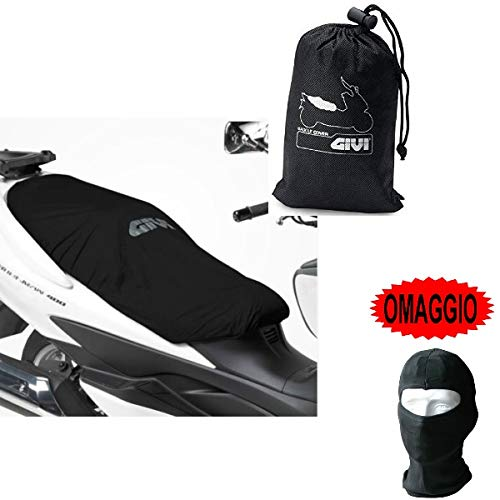Compatible con Ducati Monster 900 City I.E. Funda de sillín Givi S210 Impermeable Universal Longitud 117 cm Cubierta de sillín para Moto Scooter Bordes elásticos Negro