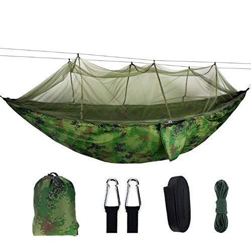 Hamaca para Acampar al Aire Libre con mosquitera Hamacas portátiles para Exteriores para mochileros, Camping, Viajes, Playa, Patio