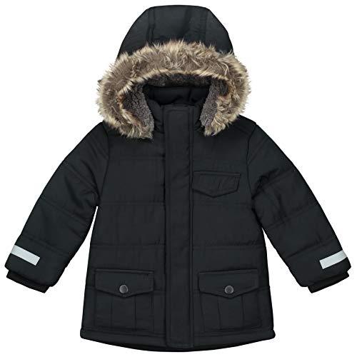 Prénatal Baby-Jungen Winter Jacke Kapuze mit Pelzkragen Schwarz Größe 86
