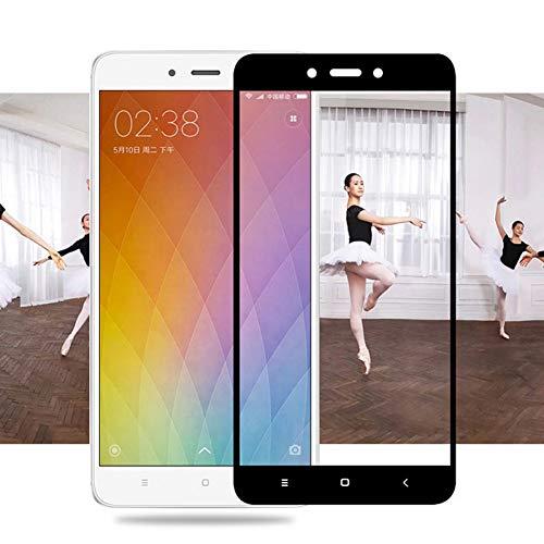 JVSJ 2PCS per Vetro temperato Full Cover per Xiaomi Redmi Note 4 PRO 4X 4A Pellicola Protettiva per Xiaomi A1 Mi5 Mi5S Mi5C Mi 5S 5C Mi6X,for Xiaomi Mi5,Black