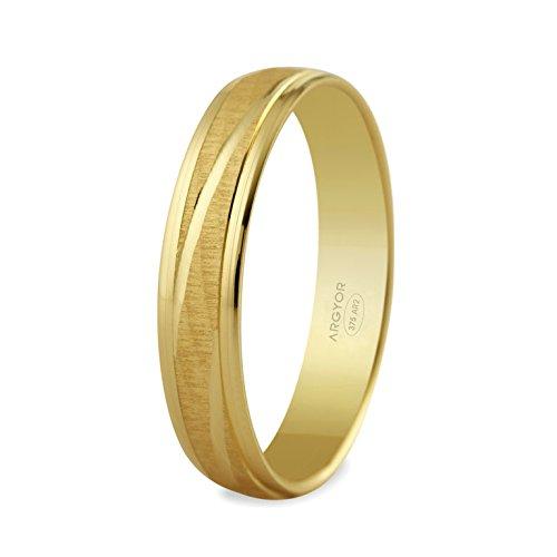 www.diamants-perles.com Unisex Ring MERRY, 9 Karat (375) Gelbgold, 52 (16.6), 65140329-9-52