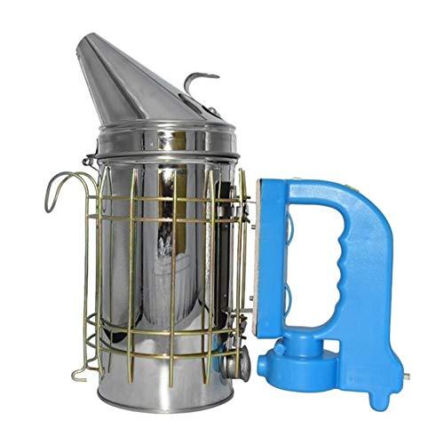MINGMIN-DZ Dauerhaft Edelstahl elektrische Bee Smoke Transmitter Satz Elektro Bienenzucht Werkzeug Bienenzucht die Bi-Tools Bee Raucher (Color : Silver)