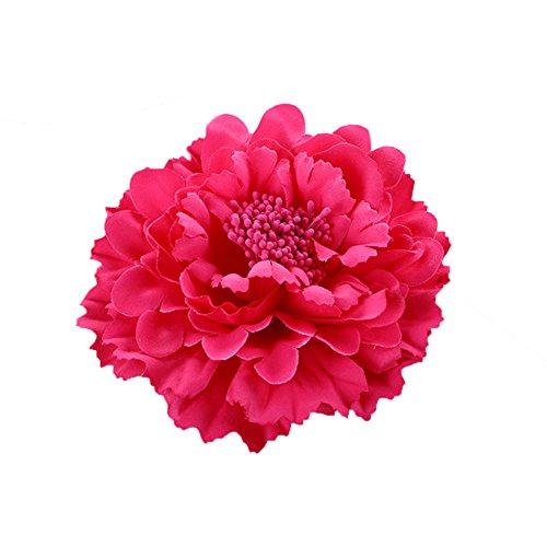 ZUMUii Butterme Multicolor Chiffon Blumen Blütenblatt Haar Clip Bogen Clip Barrettes Zubehör Alligator Clip Mädchen Headwear Kopfschmuck Blume Bogen Hairclip (Pink)