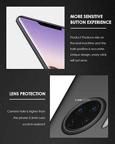 TOPACE Hülle für Huawei Mate 30 pro Ultradünne Leichte Matte Handyhülle Einfache Stoßfeste Kratzfeste Schutzhülle kompatibel mit Huawei Mate 30 pro (Schwarz) - 5