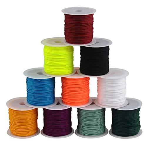 JAOMON - Cordones de Costura de 20 m, 10 Colores, Hilos de...