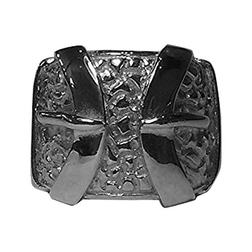 Men's 925 Solid Sterling Silver Highly Patterned Double Belt Ring 55.00 grams Any Size (35 x 25 mm)