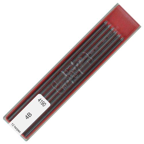 Bleistiftminen 2 mm Fallminen 4B KOH-I-NOOR Bleistift Minen für Druckbleistifte Fallbleistifte etc. Graphitminen