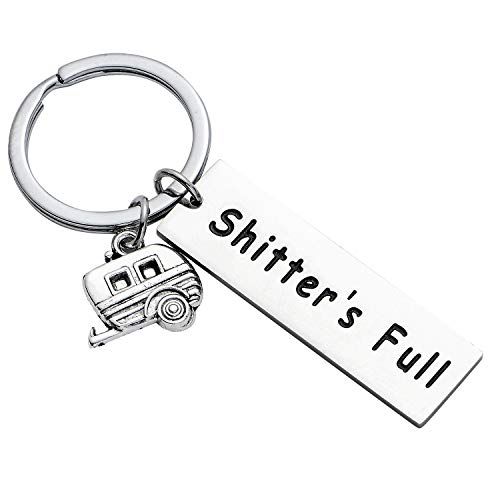BESPMOSP Shitter's Full Keychain Happy Camper Bracelet Camping Lovers Gift Campers Jewelry Trailer Vacation Jewellery (Style1)