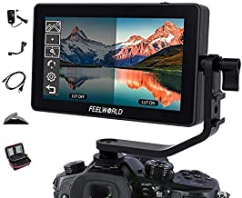 FEELWORLD F6 Plus 5.5 Inch 3D Touch Screen IPS FHD1920x1080 Support 4K HDMI Field Monitor On DSLR Camera with 12V Adapter and Tilt Arm